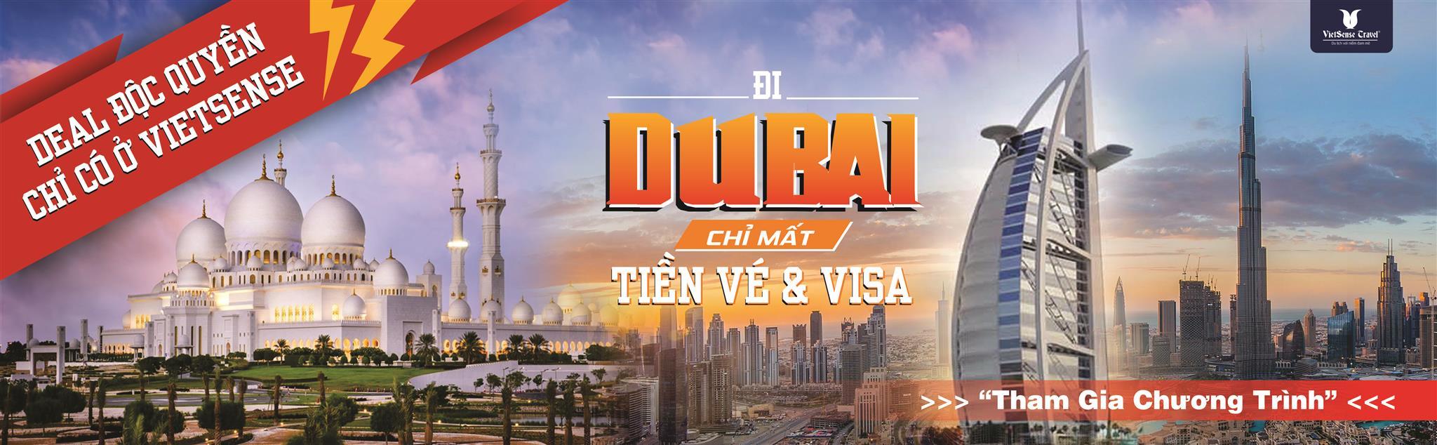 Khuyến Mãi Miễn Phí Toàn Bộ Chí Phí Đi Dubai - Ảnh 1