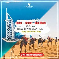 TOUR HÀ NỘI - DUBAI - ABU DHABI | Bay 5* + Nghỉ 4* -  GIÁ 20,9Tr CHO 7 CHỖ CUỐI KH 31/10
