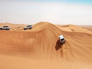 Trải nghiệm lướt cát bằng ô tô trên sa mạc DuBai