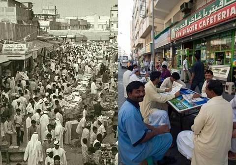 Dubai 5 thập kỷ trước và ngày nay,dubai 5 thap ky truoc va ngay nay