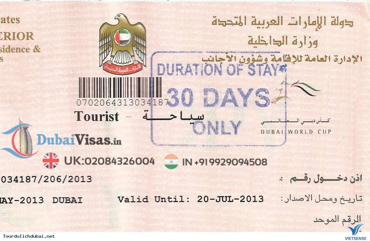 Visa du lịch Dubai và những giấy tờ quan trọng - Ảnh 3